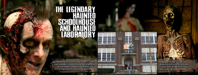 Haunted Schoolhouse and Haunted Laboratory