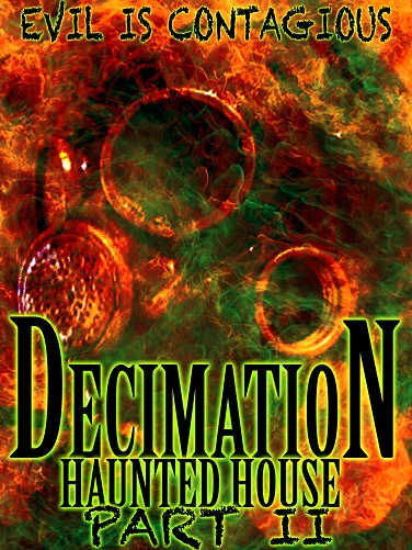 Decimation Haunted House Logo