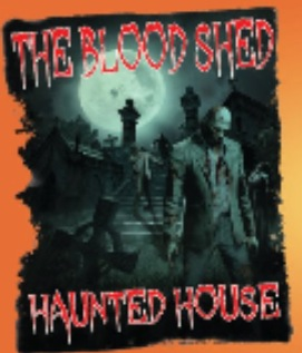 The Blood Shed Haunted House Logo