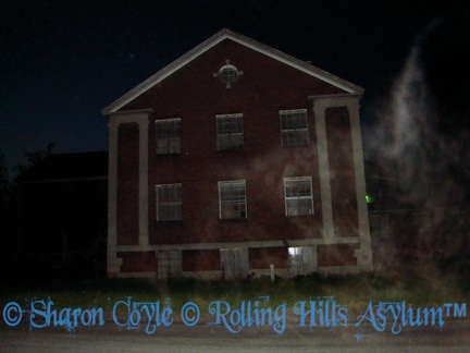 Ecto outside of Rolling Hills Asylum