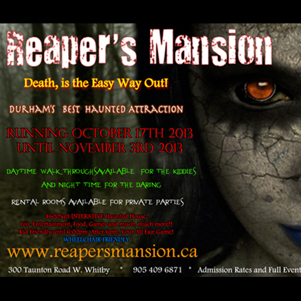 Reaper's Mansion Haunted House Logo