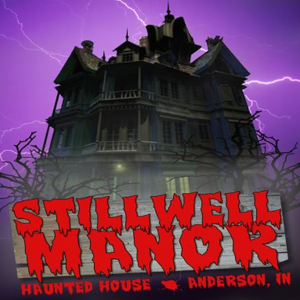 logo in profile stillwell manor haunted attraction one central indianas - Indiana Halloween Attractions