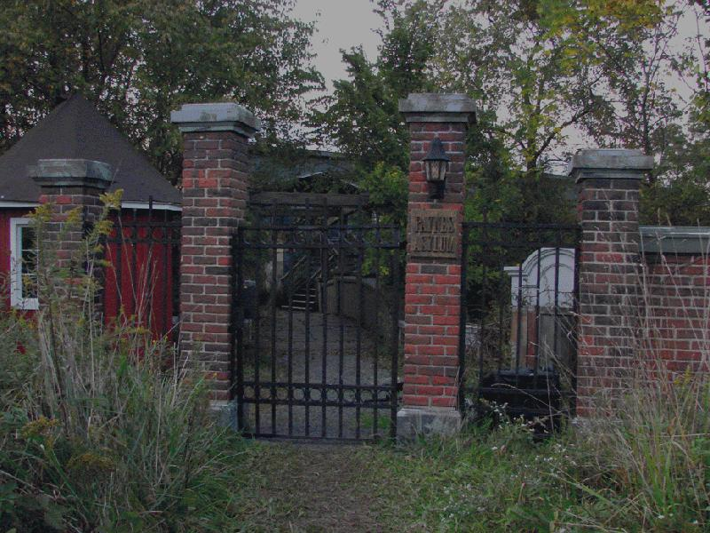 Entrance gate to the manor.
