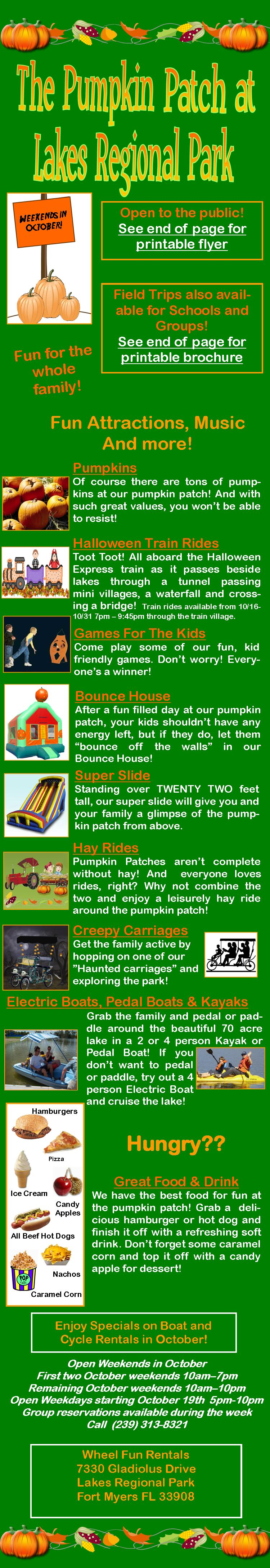 Lakes Regional Park Pumpkin Patch